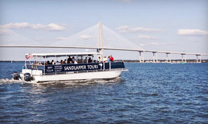 Sandlapper Water Tours - Charleston: Nature or Sunset Boat Tour for Two or Four from Sandlapper Water Tours (Up to 57% Off)
