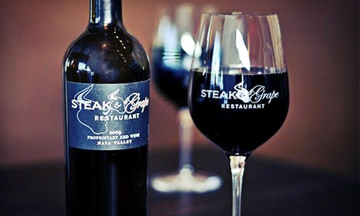 Steak & Grape Restaurant - Fruitvale: $30 for $50 Worth of Steak-House Cuisine and Drinks at Steak & Grape Restaurant