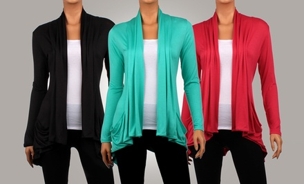 3-Pack of Women's Draped Cardigans