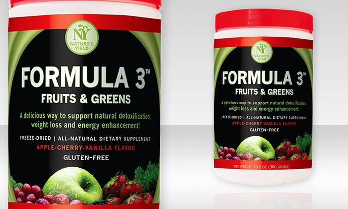 Nature's Yield Formula 3 – Detox, Energy & Weight Loss Support: Nature's Yield Formula 3 Fruits & Greens Blend Dietary Supplement