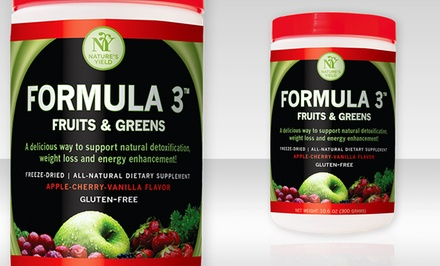 Nature's Yield Formula 3 Fruits & Greens Blend Dietary Supplement