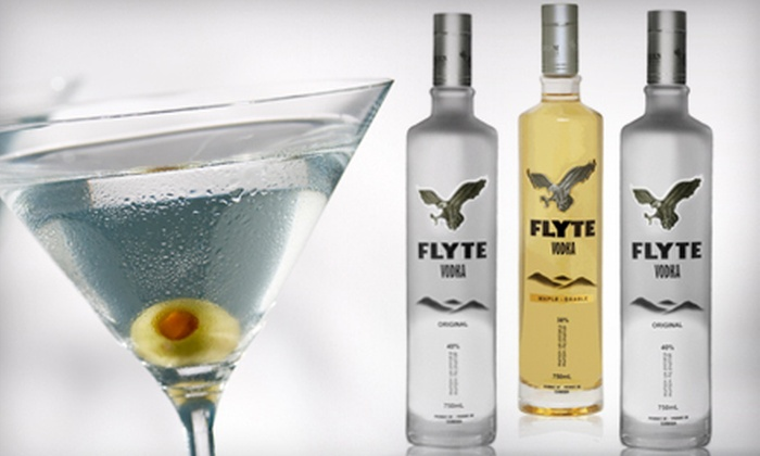 Central Liquors - Downtown - Penn Quarter - Chinatown: One or Three 750 mL Bottles of Regular or Maple-Flavored Flyte Vodka at Central Liquors (Up to 55% Off)