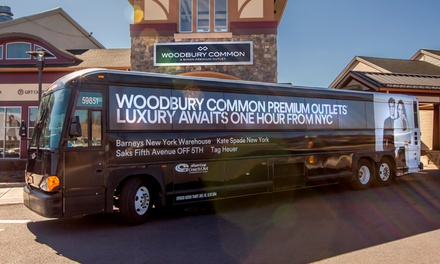 $25 for Round-Trip Service to Woodbury Common Premium Outlets from ShortLine/Coach USA ($42 Value)