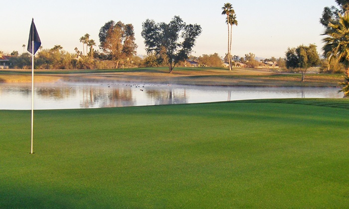 Peoria Pines Golf and Restaurant - Peoria: $19 for 18 Holes of Golf with Cart and Range Balls at Peoria Pines Golf and Restaurant ($41 Value)