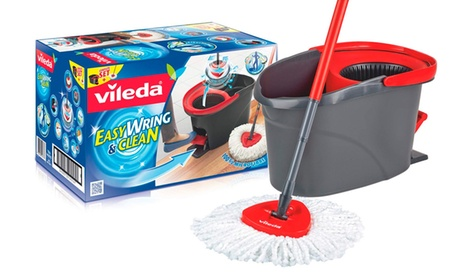1 o 2 sets de fregona giratoria y cubo Vileda EasyWring & Clean