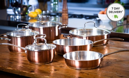 Kevin Dundon 10-Piece Stainless Steel Cookware Set. Free Returns.