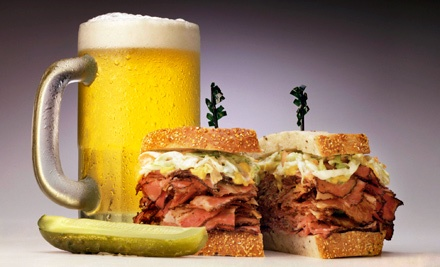 Specialty Sandwich with Beer or Soda for Two or Four at The Sports Pub (Up to 52% Off)