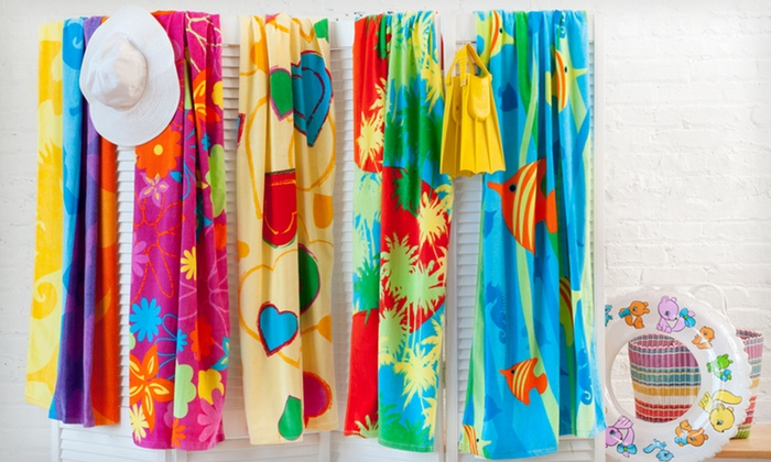 Tropicale Velour Beach Towel 2-Pack: $13.99 for a Tropicale Velour Beach Towel 2-Pack ($59.98 List Price). Multiple Styles. Free Returns.