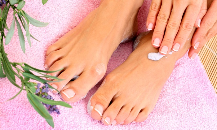 Nail Lounge - Stow: Mani-Pedi for One or Two or a Hot-Stone Pedicure at Nail Lounge (Up to 53% Off)