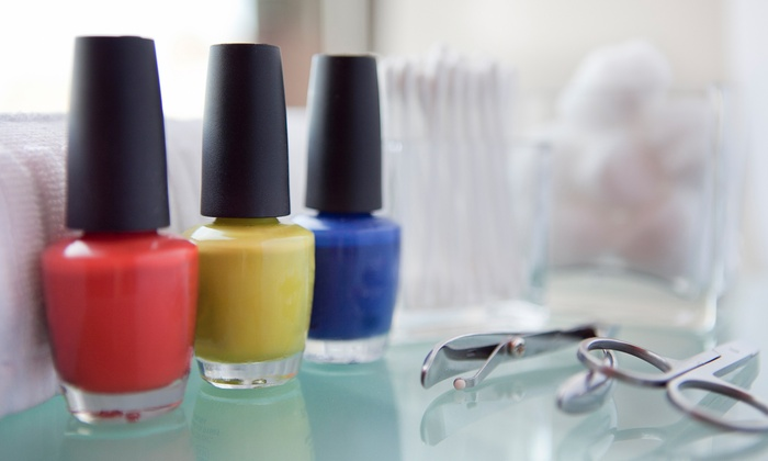 Butterfly Nail Salon - Bryn Mawr: Gel Manicure or Pomegranate Spa Pedicure at Butterfly Nail Salon (Up to 51% Off)