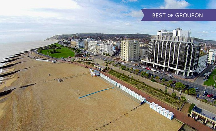 East Sussex: 1 or 2 Nights for Two with Breakfast and Wine at The View Hotel Eastbourne
