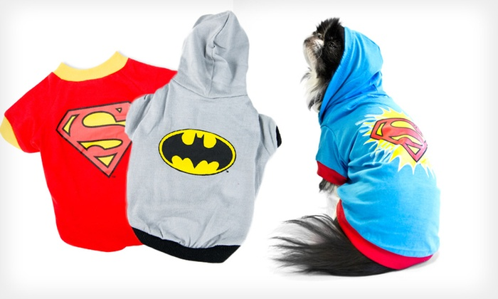 DC Comics Superhero Dog Clothes: DC Comics Superhero Tees and Hoodies for Dogs (Up to 75% Off). 5 Styles Available. Free Returns.