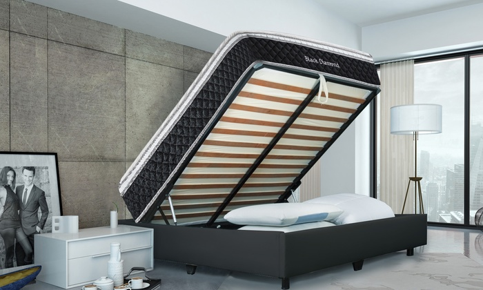 140x200 Bed Inclusief Matras.Deco Bed Frame En Matras Groupon Goods