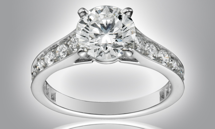Populaire Solitaire et alliance Swarovski® Elements | Groupon Shopping TF25