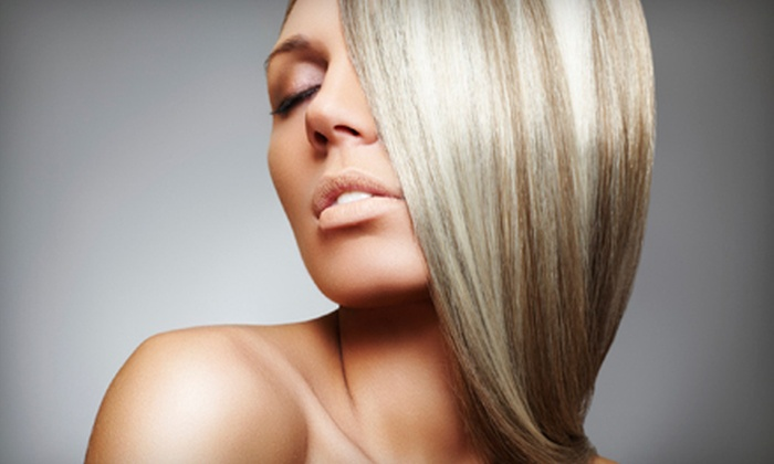 Concepts Salon & Spa - Multiple Locations: Haircut Package with Style, Conditioning, and Optional Partial Highlights at Concepts Salon & Spa (Up to 60% Off)