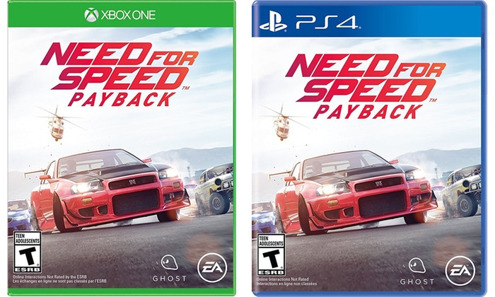 need for speed payback for ps4 or xbox one livingsocial. Black Bedroom Furniture Sets. Home Design Ideas