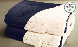 2-pack Of Reversible Sherpa Throws. Multiple Styles Available. Free Returns.