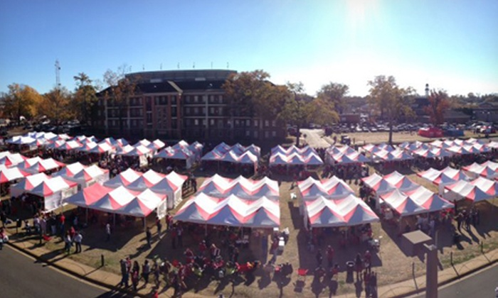 Gameday Done Right - Birmingham: On-Campus University of Alabama Tailgate Package from Gameday Done Right (Half Off). Two Games Available.