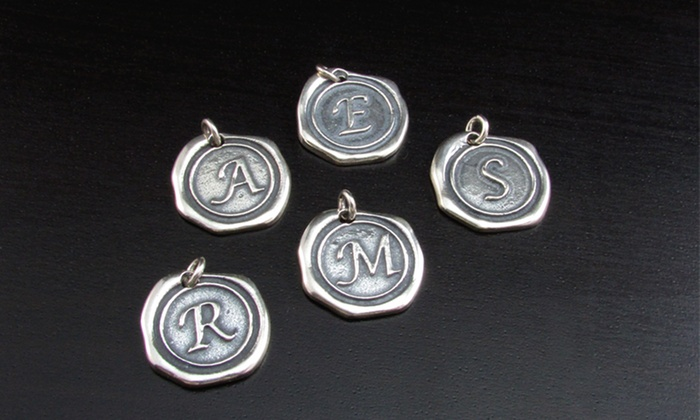 NameJewelrySpot: $5 for a Silver Wax-Seal Initial-Charm from NameJewelrySpot ($82 Value)