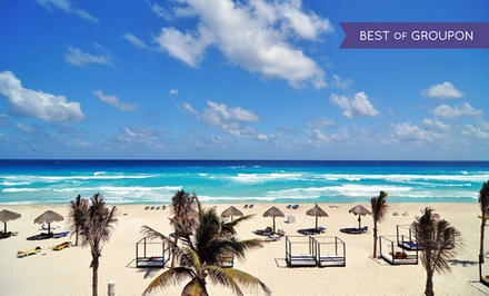 groupon daily deal - All-Inclusive Stay at Grand Oasis Cancun in Mexico, with Dates into December. Includes Taxes and Fees.