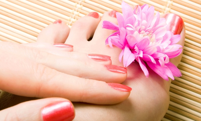 Leslie's Nail and Brow Bar - Hollywood: Classic Manicure & Pedicure or Gel Polish Manicure & Lavender Pedicure at Leslie's Nail and Brow Bar (Up to 63% Off)