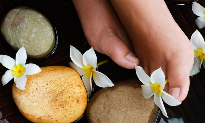 Neo Pinot Spa - Goose Hollow: One or TwoDeluxeHot Stone Pedicures with Sea Salt Scrub and 15-Minute Foot Massage at Neo Pinot Spa(50% Off)
