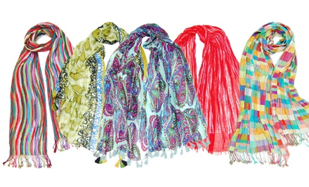 Wrapsody in Hues Printed Scarves. Multiple Designs Available.
