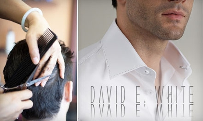 David E. White - Central London: Men's Haircut or Men's Haircut Plus a Straight-Razor Shave at David E. White. Choose Between Two Options.