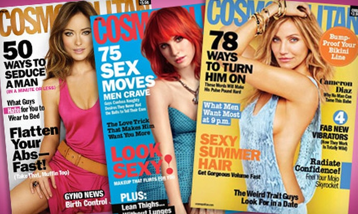 """""""Cosmopolitan"""" Magazine: $8 for a One-Year Subscription to """"Cosmopolitan"""" Magazine"""
