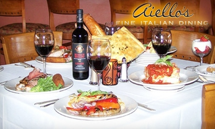 Aiello's Italian Restaurant - Alhambra: $15 for $30 Worth of Italian Fare and Drinks at Aiello's