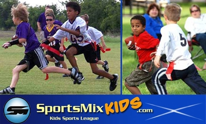 SportsMix - Wildflower Area: $35 for an Eight-Week Coed Kids Flag Football Clinic & League with SportsMix ($95 Value). Choose One of Two Age Groups.