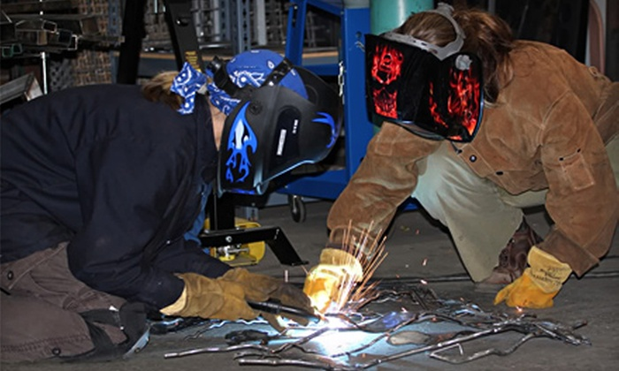 Rossi Sculptural Designs - Midtown: Introductory Fused-Glass or MIG-Welding and Metal-Sculpting Class at Rossi Sculptural Designs