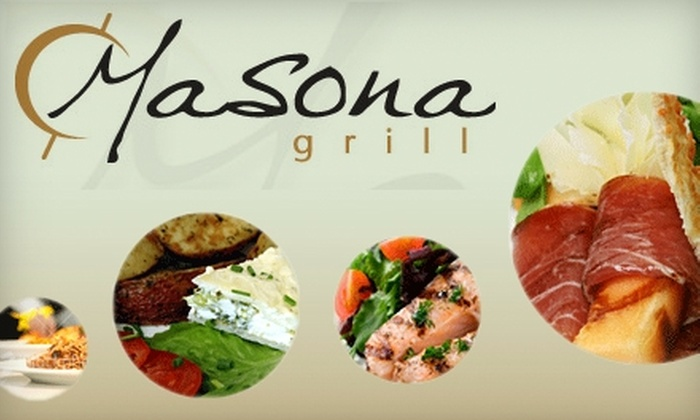 Masona Grill - Boston: $20 for $40 Worth of New American Cuisine at Masona Grill in West Roxbury