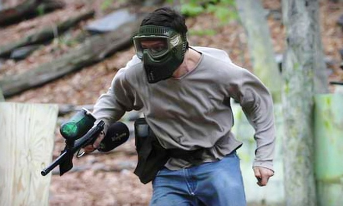Extreme Paintball - Waterbury: $20 for All-Day Paintball Outing with Mask, Gun, and 500 Paintballs at Extreme Paintball in Waterbury ($39.99 Value)