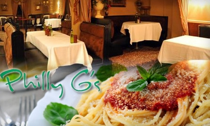 Philly G's - Vernon Hills: $15 for $30 Worth of Fine Italian Cuisine at Philly G's in Vernon Hills