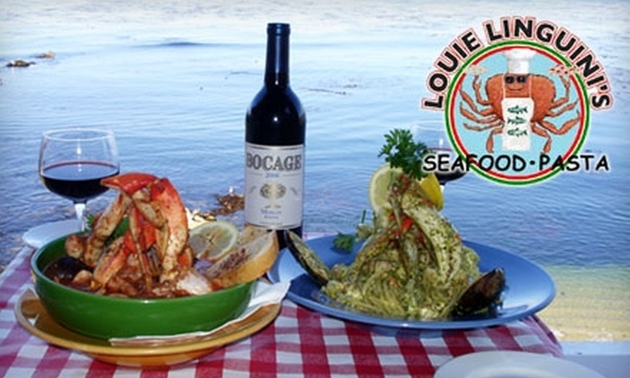 Louie Linguini's - Monterey: $20 for $40 Worth of Seafood and Italian Fare at Louie Linguini's in Monterey