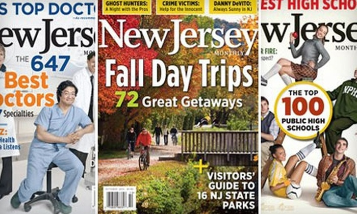"""New Jersey Monthly"": $9 for One-Year Subscription to ""New Jersey Monthly"" ($19.95 Value)"