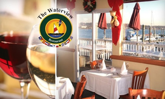 The Waterview Restaurant - Manorhaven: $20 for $45 Worth of Seafood and Drinks at The Waterview Restaurant