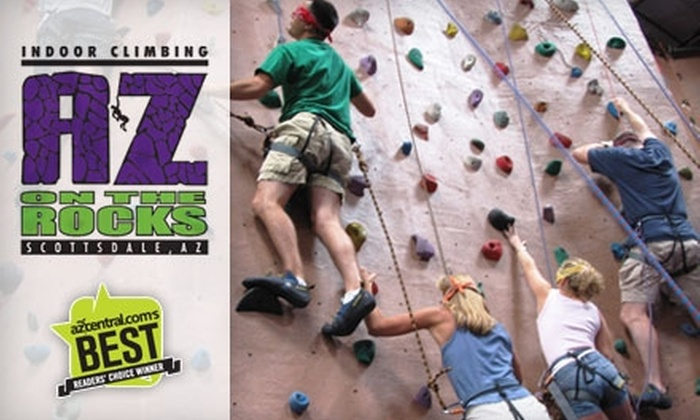 AZ on the Rocks - North Scottsdale: $25 for $50 Worth of Climbing Passes, Gear Rental, Birthday Parties, Team Building, Camp, and More at AZ on the Rocks in Scottsdale