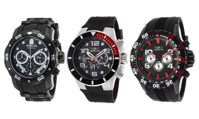 Invicta Pro Diver Men's Chronograph Watches. Multiple Options Available.