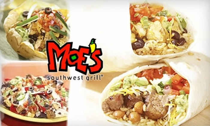 Moe's Southwest Grill Oklahoma City - Central Oklahoma City: $10 for $20 Worth of Tex-Mex Fare and Drinks at Moe's Southwest Grill