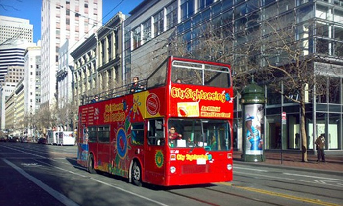 City Sightseeing - The Embarcadero: Holiday-Lights Bus Tour for One Adult or Child from City Sightseeing (Half Off)