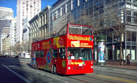 1 Adult Admission to a Holiday-Lights Bus Tour - City Sightseeing in San Francisco