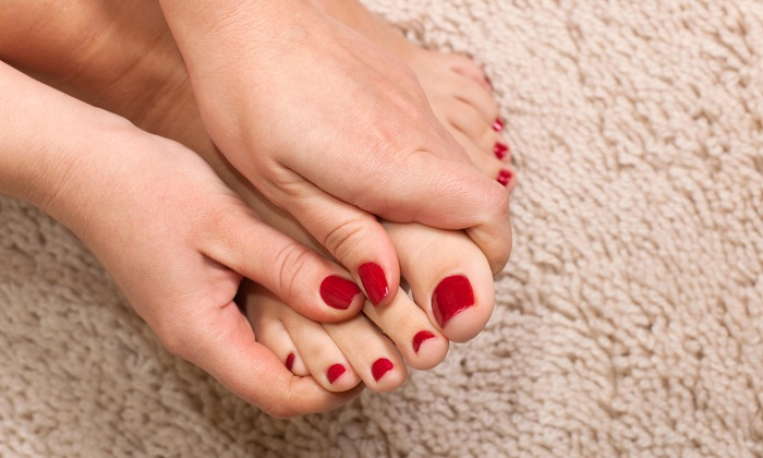 Marina Nail Tea - Miami: A Spa Manicure and Pedicure from Marina Nail Tea (38% Off)
