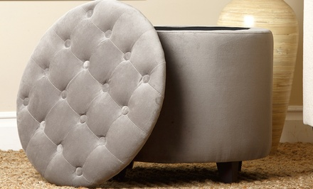 Abbyson Living Avery Tufted Storage Ottoman