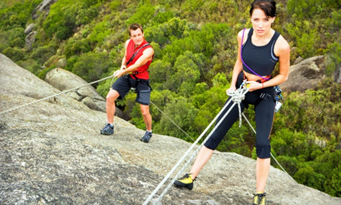 Joshua Tree Guides - Twentynine Palms-Yucca Valley: $149 for a Four-Hour Private, Guided Rappelling or Rock-Climbing Tour for Two from Joshua Tree Guides ($310 Value)