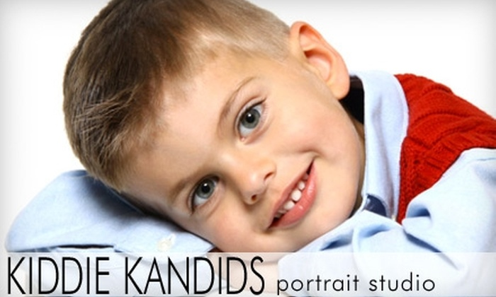 Kiddie Kandids Portrait Studio - Multiple Locations: $20 for a Two-Enhanced Wall Portrait Photography Package at Kiddie Kandids Portrait Studio (Up to $114.95 Value)
