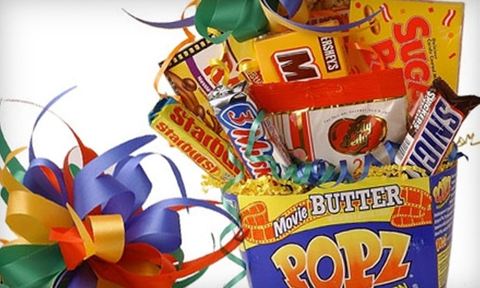 BasketCase - Springfield: $15 for a Movie-Night or Candy-Bouquet Gift Basket at BasketCase ($30 Value)