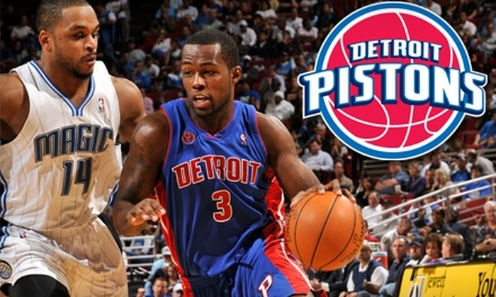 Two Tickets and More to a Detroit Pistons Home Game. Choose from Three Ticket Packages and Five Dates.