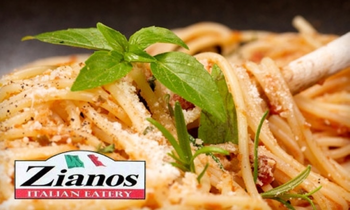 Ziano's Italian Eatery - Multiple Locations: $7 for $15 Worth of Italian Fare and Drinks at Ziano's Italian Eatery. Two Locations Available.